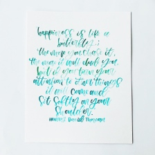 Watercolor Quote
